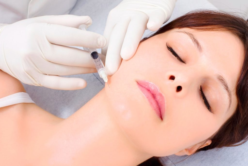 Image of woman receiving Botox treatment