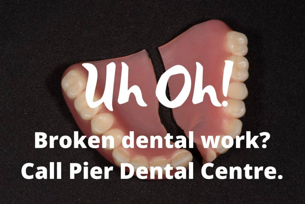 broken dental work
