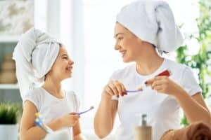 nighttime teeth brushing routine recommended
